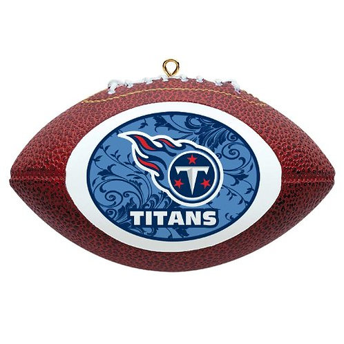 Titans Replica Football with Rounded Logo Ornament