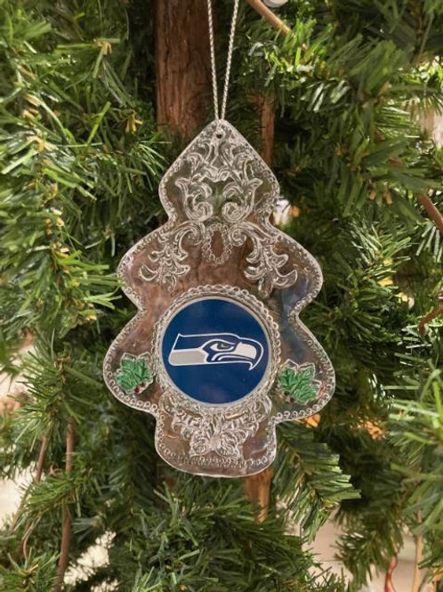 Seahawks Acylic Tree - Cut Crystal Design Ornament