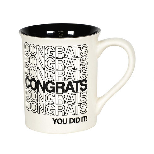 Congrats Typography Mug