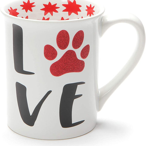 16oz .....  Love My Furry Pet Glitter Mug ..... by Our Name Is Mud
