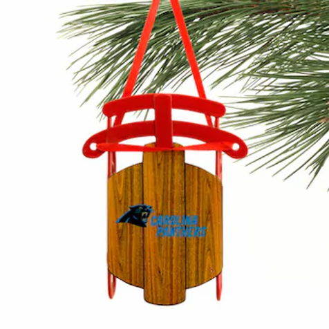 Panthers Metal Sled Ornament