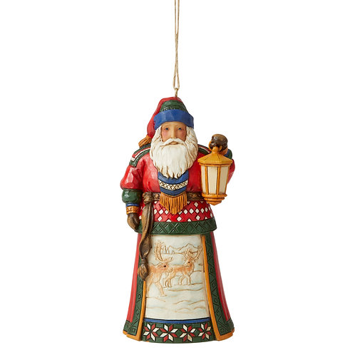 Lapland Santa With Lantern Ornament