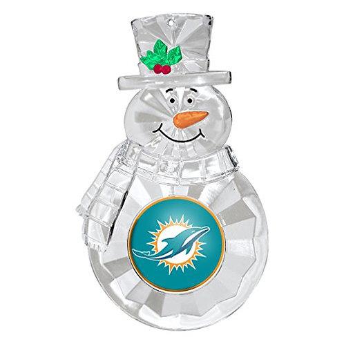 Dolphins Acylic Snowman - Cut Crystal Design Ornament
