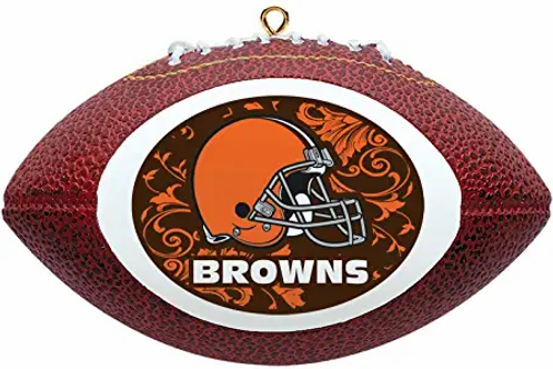 Browns Replica Football Ornament