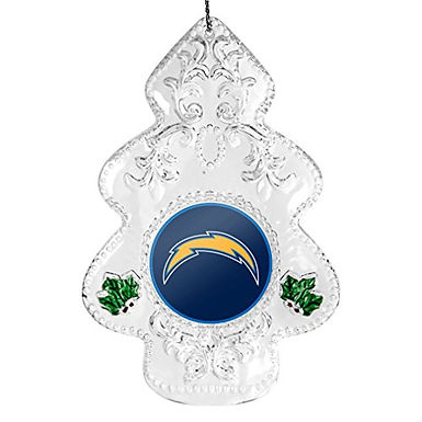 Chargers Acylic Tree - Cut Crystal Design Ornament