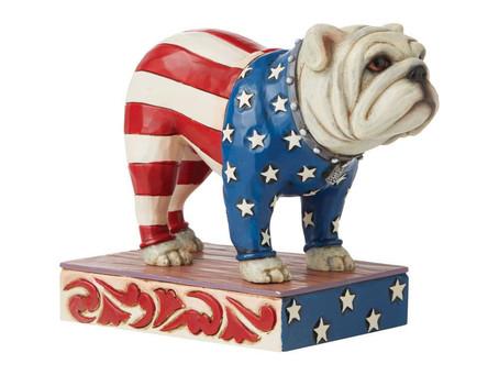 Patriotic Bulldog by Jim Shore