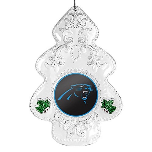 Panthers Acylic Tree - Cut Crystal Design Ornament