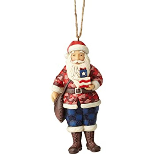 Camouflage Santa Ornament