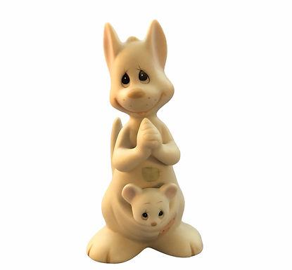 Precious Moments ......Hello World ........ Mom & Baby Kangaroo