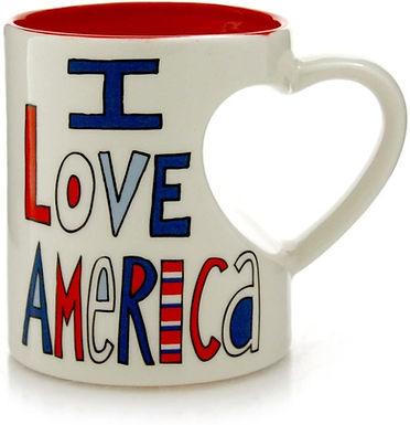 "16oz ..... Our Name is Mud ""I Love America"" Stoneware Mug"