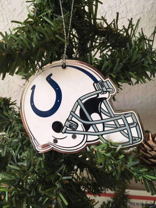 Colts Flat Metal Helmet Ornament