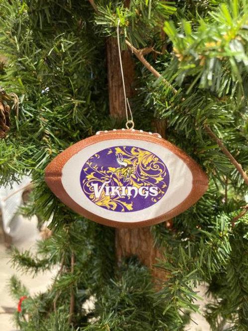 Vikings Replica Football Ornament