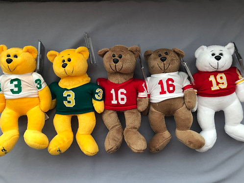 Plush Classic Collecticritter Limited Edition Bear ..... Set of 5 Joe Montana