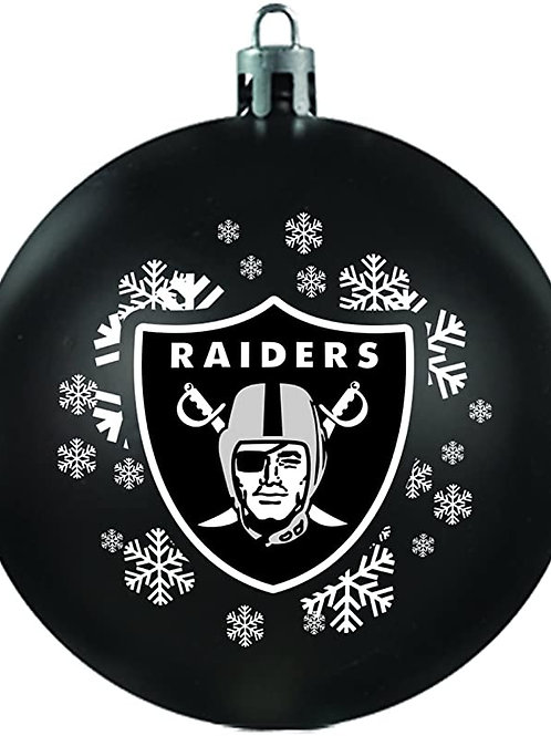 Raiders Shatter-Proof Ball Ornament