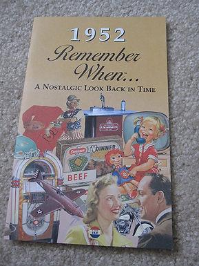 1952 Remember When Kardlet