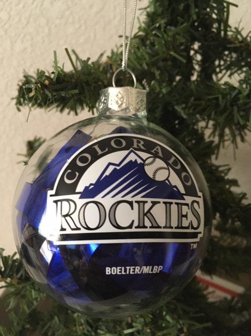 Rockies Tinsel Ball Ornament