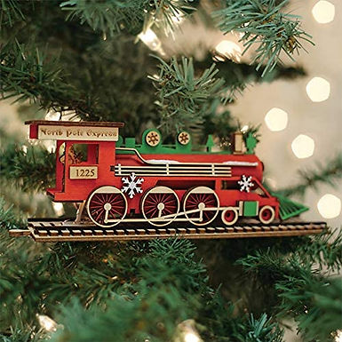 Santa's North Pole Express Engine ..... Ginger Cottages Figurine / Orna