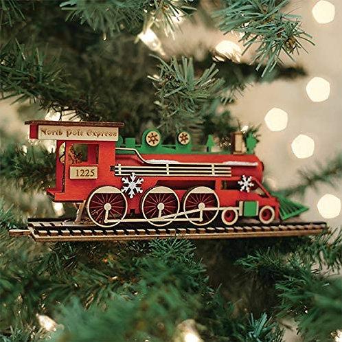 Santa's North Pole Express Engine ..... Ginger Cottages Figurine / Orna