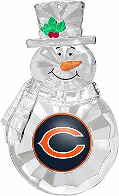 Bears Acylic Snowman - Cut Crystal Design Ornament