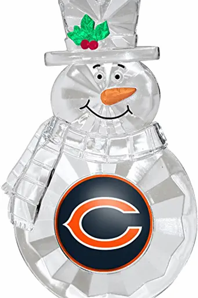 Bears Acylic Snowman - Cut Crystal Design Ornament