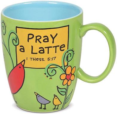 """16oz .....   """"Pray A Latte"""" Mug ..... by Our Name I"""
