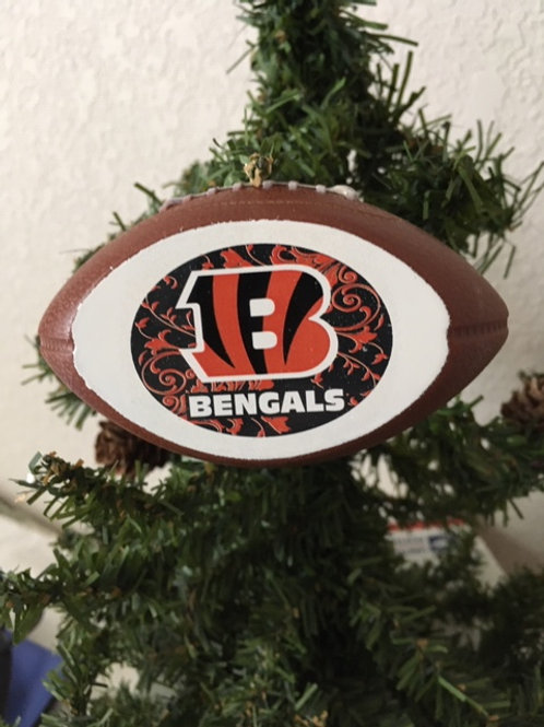 Bengals Replica Football Ornament