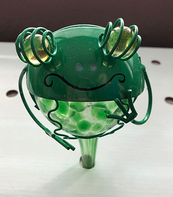 Green Frog Glass Plant Watering Globe