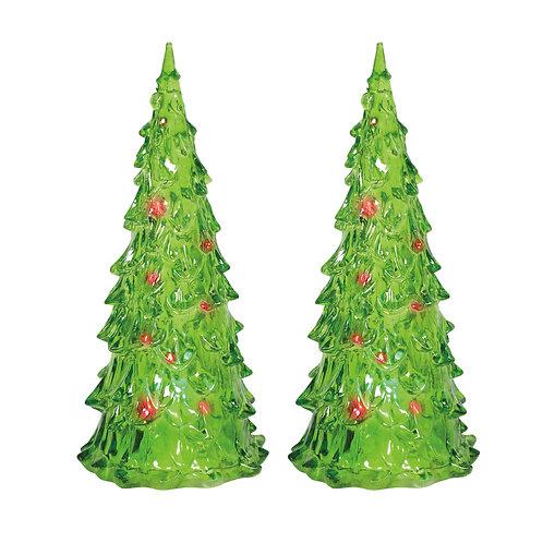 Lit Emerald Trees