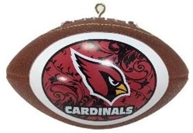 Cardinals Replica Football Ornament