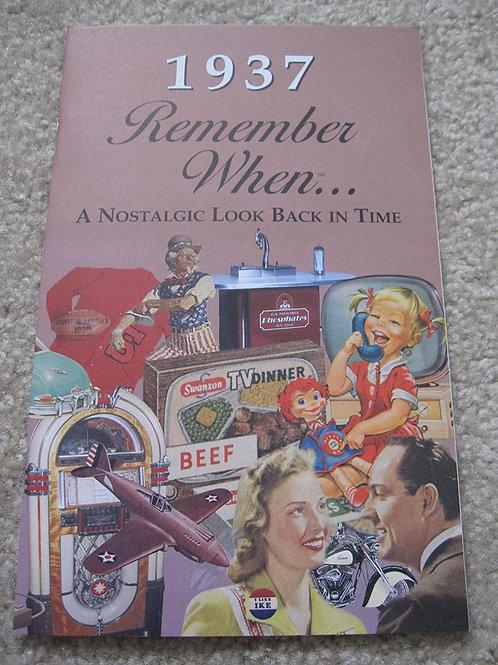1937 Remember When Kardlet