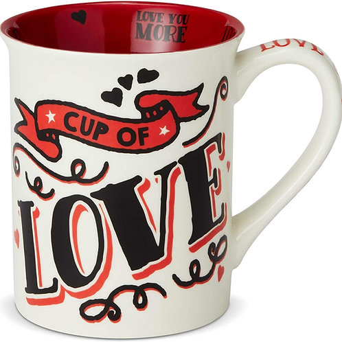 "16oz .....  ""Cup of Love"" Mug ..... by Our Name Is Mud"
