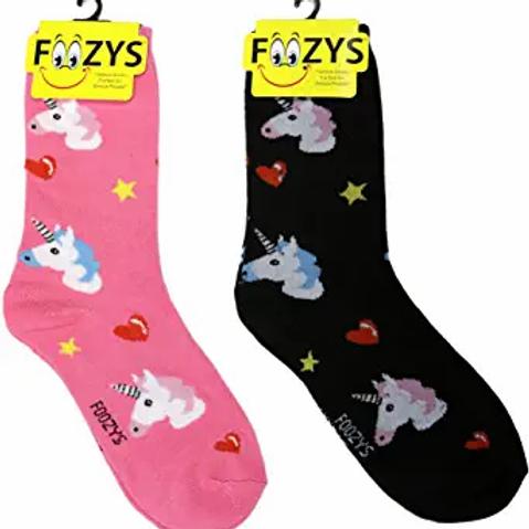 Foozys Womens Unicorn Socks ..... 2 pr (1 pair of each