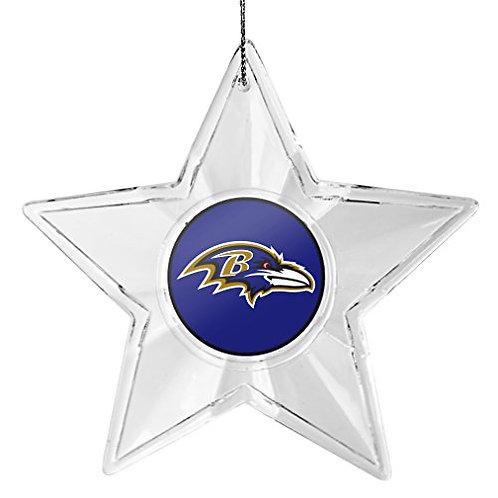 Ravens Acylic Star - Cut Crystal Design Ornament