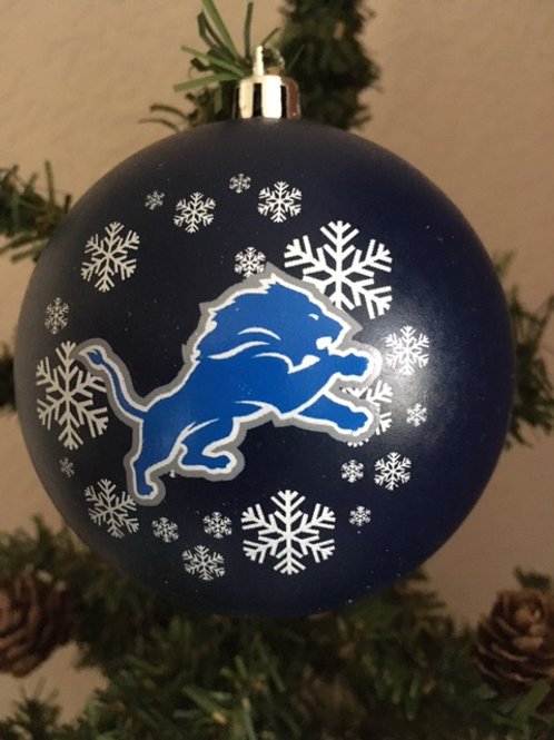Lions Shatter-Proof Ball Ornament