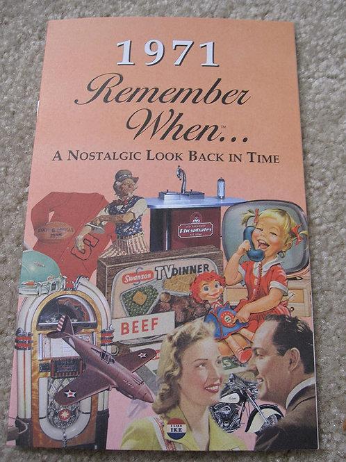1971 Remember When Kardlet