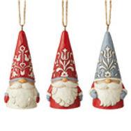 Nordic Mini Gnomes 3 Pc Ornament Set   ....  by Jim Shore