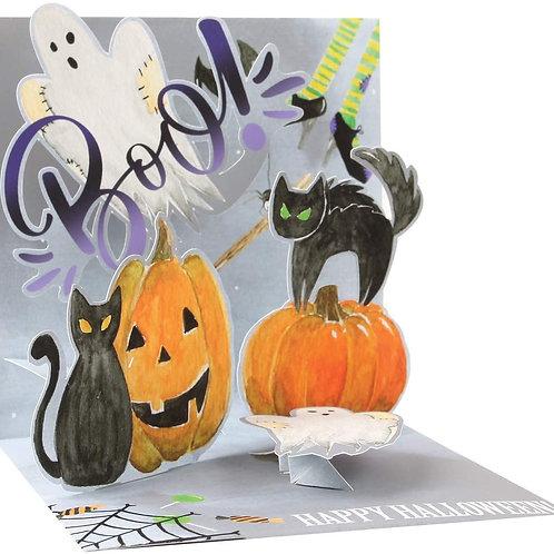 Boo .....  3-D Halloween Greeting Card