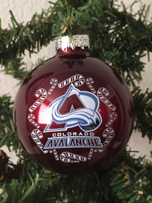 Avalanche Candy Cane Ball Ornament