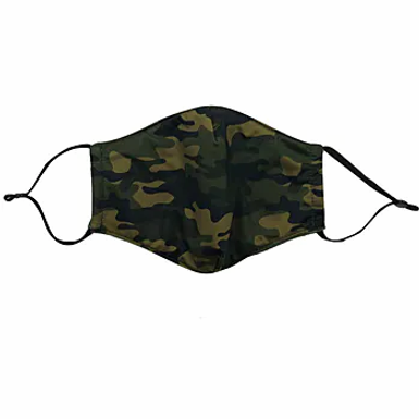 One Green Camouflage Face Mask