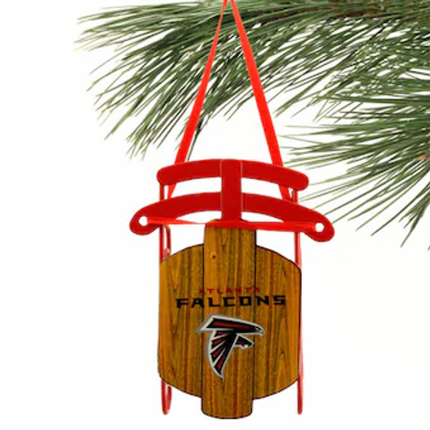 Falcons Metal Sled Ornament