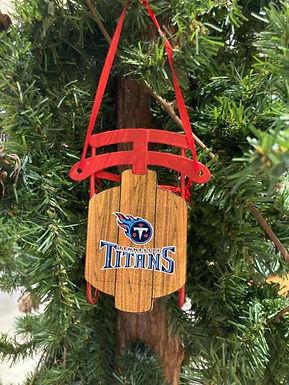 Titans Metal Sled Ornament