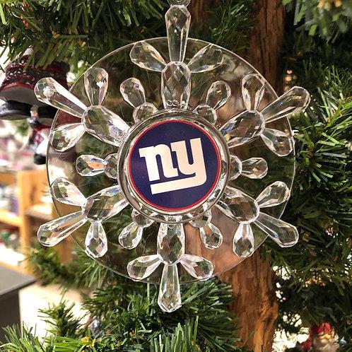 Giants Acylic Snowflake - Cut Crystal Design Ornament