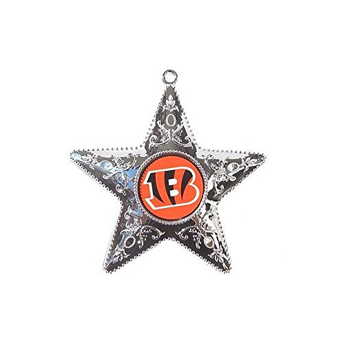 Bengals Silver Star Ornament