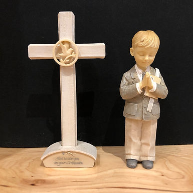 Communion Boy With Wall Cross ...... Foundations by Karen Hahn