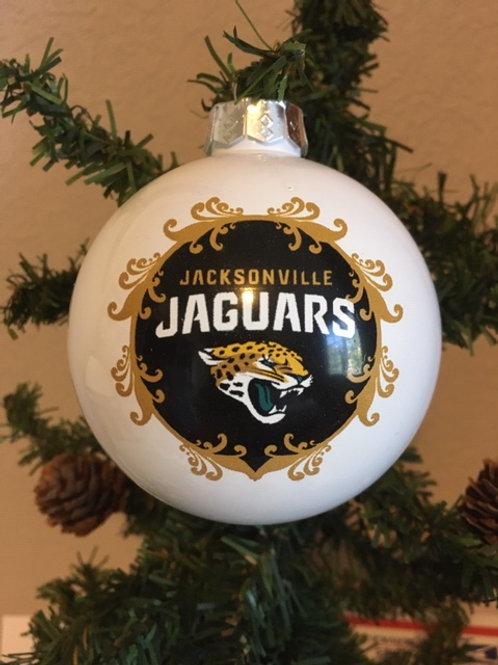 Jaguars Large Ball Ornament