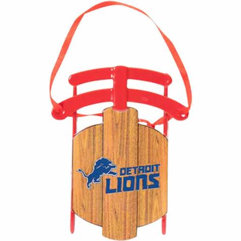 Lions Metal Sled Ornament