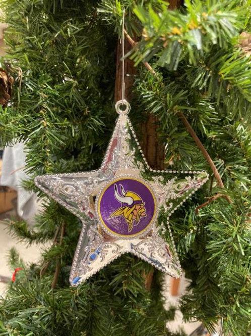 Vikings Silver Star Ornament