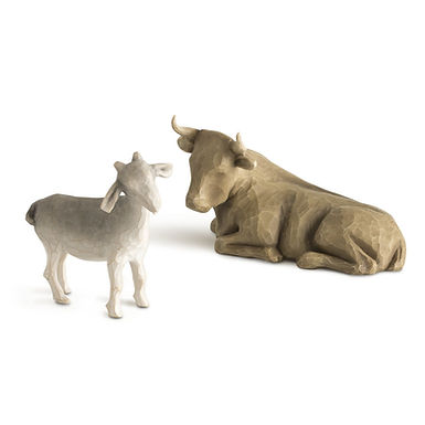 Ox and Goat   ..... coordinates with Willow Tree Nativity #26005
