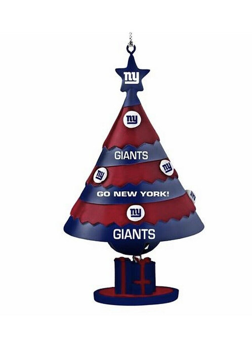 New York Giants Bell Tree Ornament