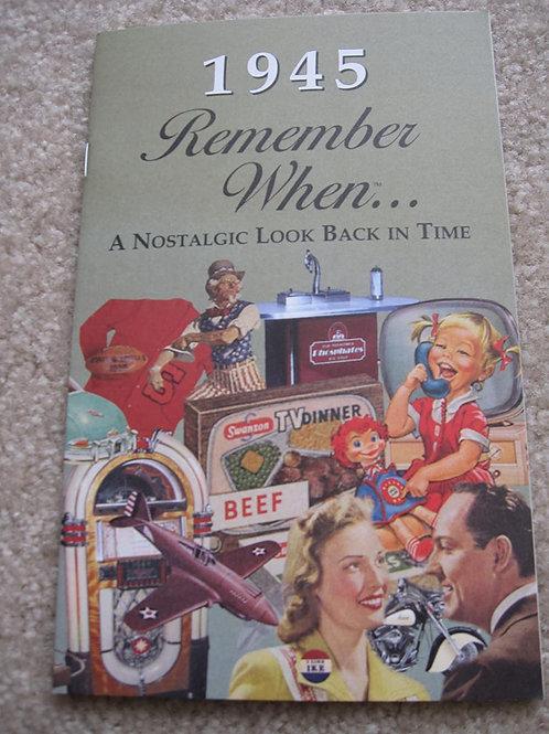 1945 Remember When Kardlet